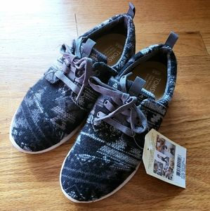 nWt TOMS Del Ray Sneakers Grey Tribal Wool 5.5 NEW